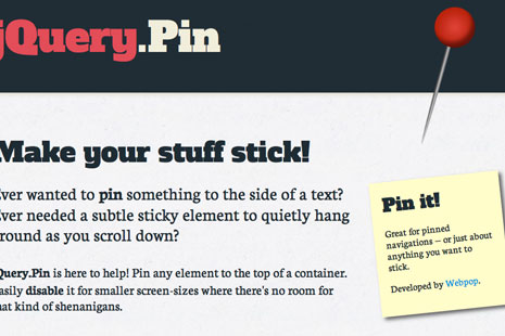 jquery-pin-sticky-plugin